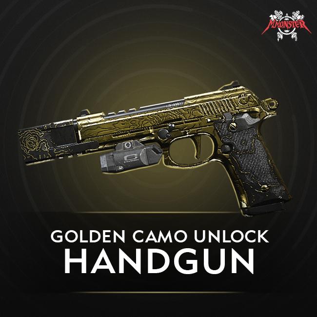 CoD MW Handgun Gold Camo Unlock Boost