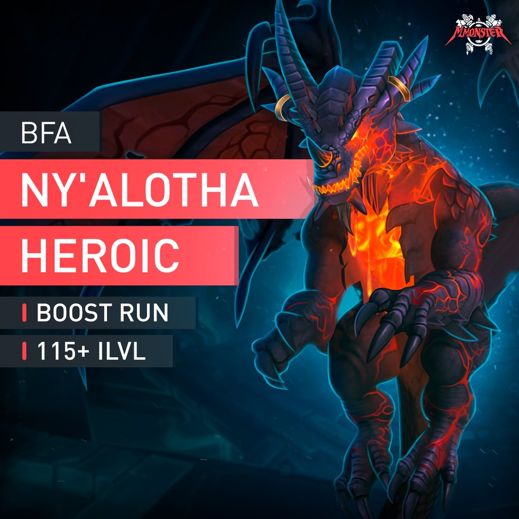 Ny'alotha, The Waking City Heroic Boost Run - MmonsteR
