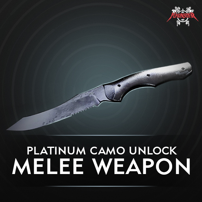 CoD MW Meele Weapons Platinum Camo Unlock Boost