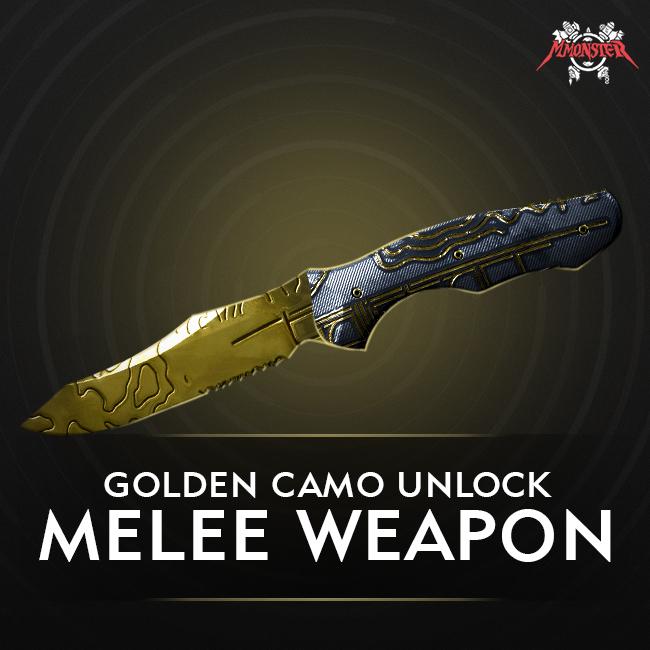 CoD MW Meele Weapon Gold Camo Unlock Boost