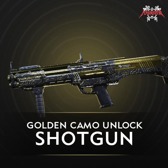 CoD MW Shotgun Gold Camo Unlock Boost