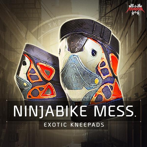 NinjaBike Messenger Exotic Kneepads Farm Boost