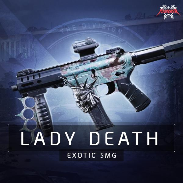 Lady Death Exotic SMG Weapon Farm Boost