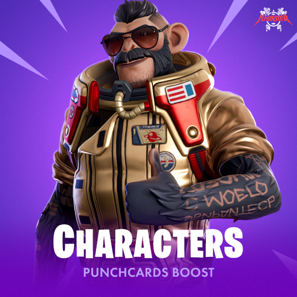 Fortnite Characters Punchcards Completion