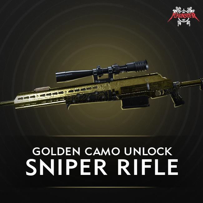 CoD MW Sniper Rifle Gold Camo Unlock Boost