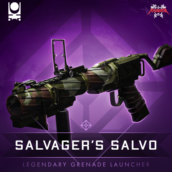 SALVAGER'S SALVO Legendary  Energy  Grenade Launcher