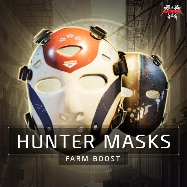 Warlords of New York Secret Hunter Masks Farm Boost
