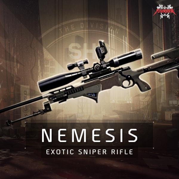 Nemesis Exotic Sniper Rifle Weapon Farm Boost