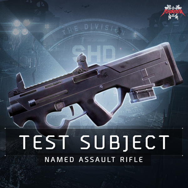 Test Subject Named Assault Rifle Farm Boost