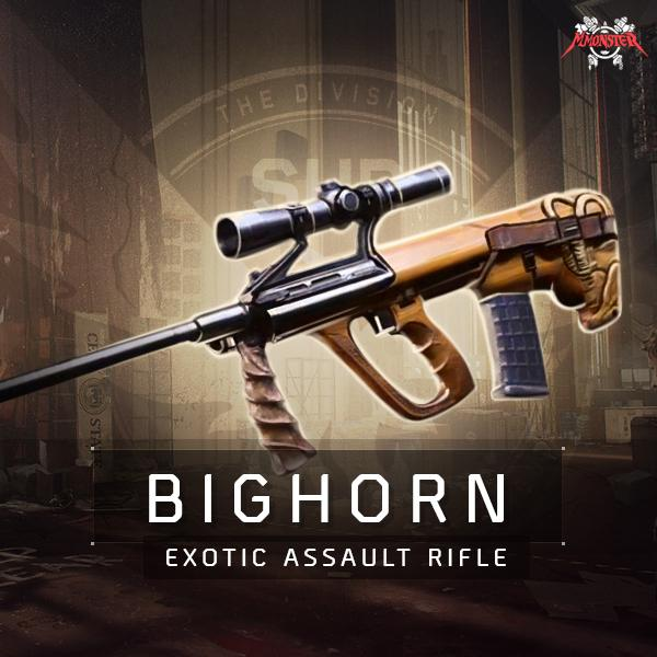 Bighorn Exotic Assault Rifle Weapon Farm Boost
