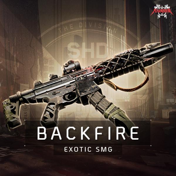 Backfire Exotic MPX Submachine Gun Farm Boost