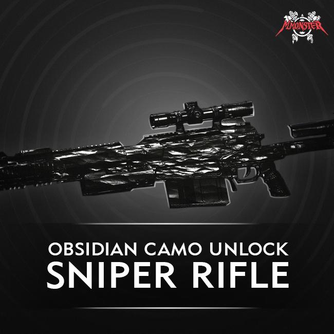 CoD MW Sniper Rifle Obsidian Camo Unlock Boost