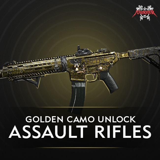 CoD MW Assault Rifle Gold Camo Unlock Boost