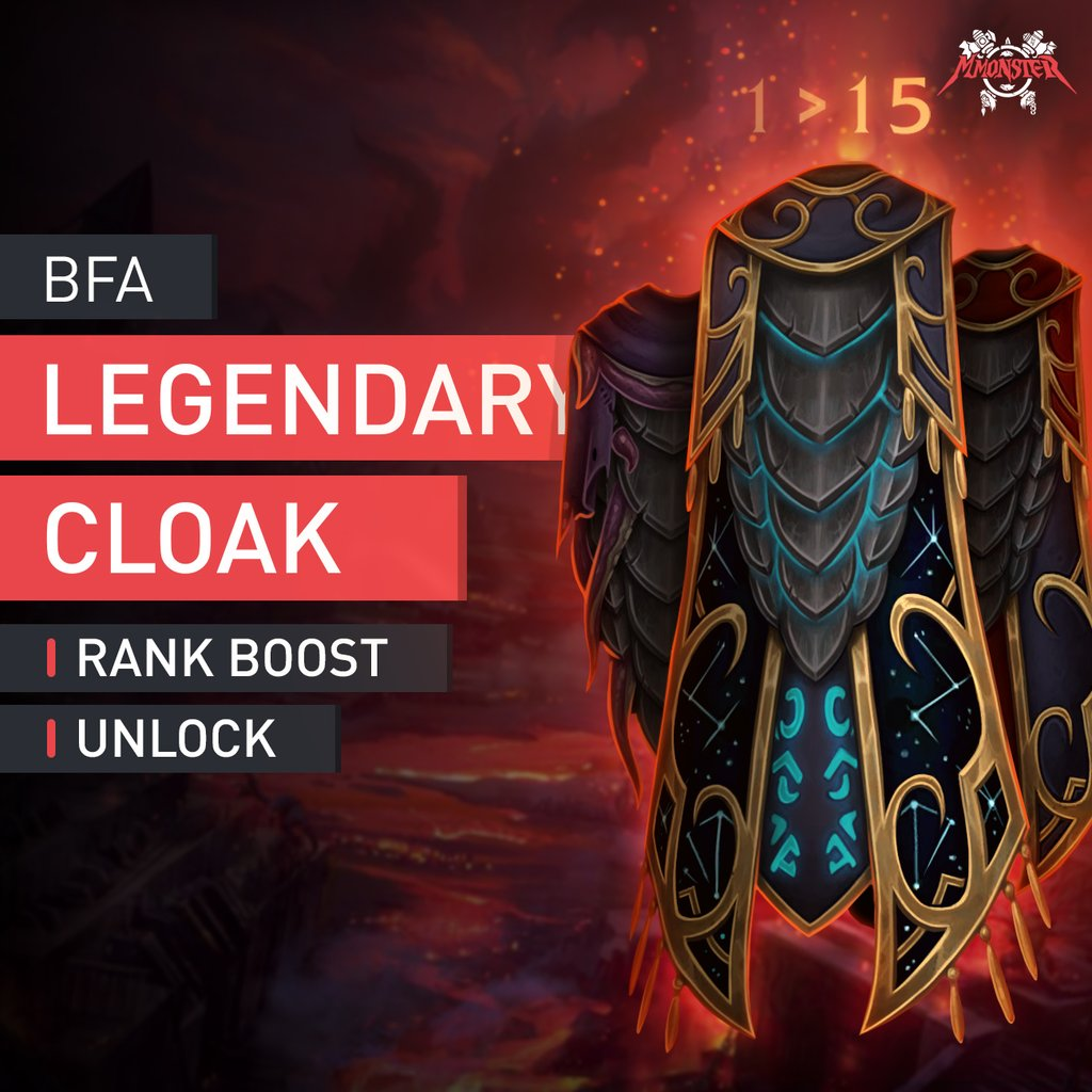Legendary Cloak Rank Leveling Boost