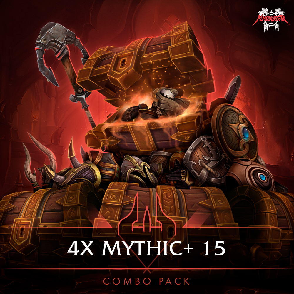4x Mythic+ 15 Dungeons Combo Pack Boost Carry [id:76391]