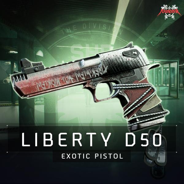 Liberty D50 Exotic Pistol Weapon Farm Boost