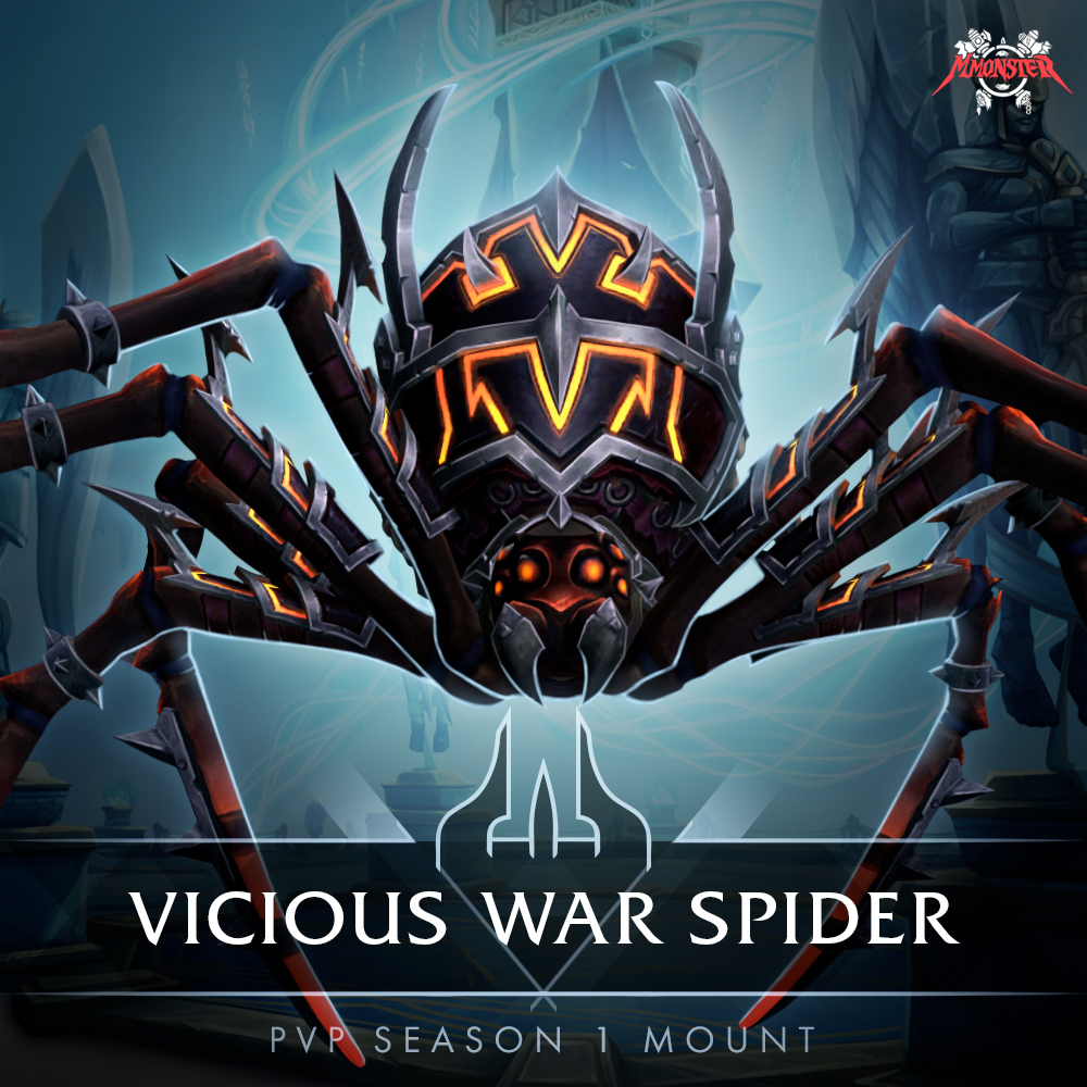 vicious war spider shadowlands pvp season 1 mount