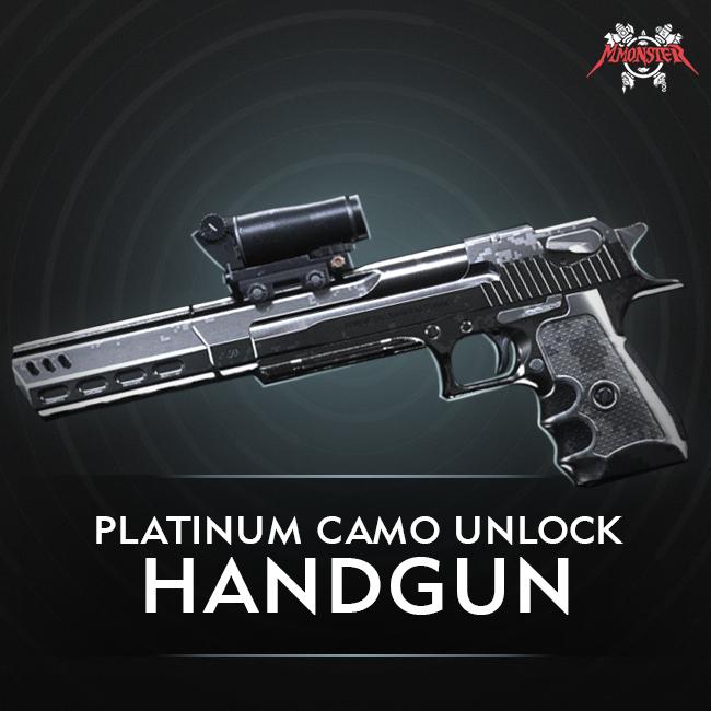 CoD MW Handgun Platinum Camo Unlock Boost
